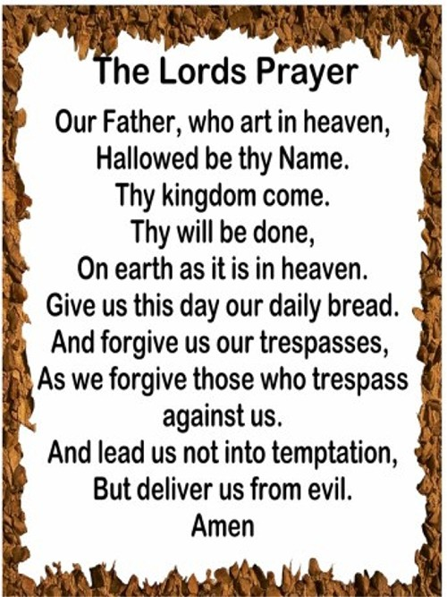 lords prayer I purchased this accompaniment track for the purpose of singing this arrangement of the lord's prayer at my brother's wedding i have never had to purchase a track before because i usually accompany myself on the piano or have someone else play for me.