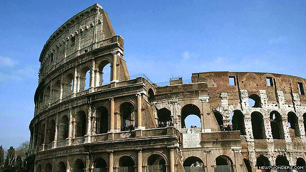 The Roman Colosseum at Rome, Italy