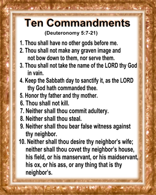 Pics Photos - Ten Commandments Bible Printable